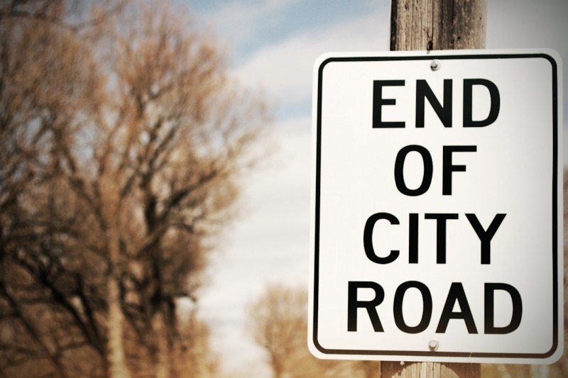 end of city road-6